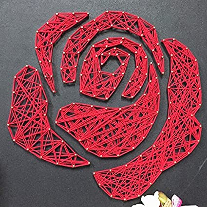 Amazon String Art Rose Red Rose Wall Art String Art Flower Nail