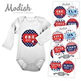 12 Monthly Baby Stickers, Nautical, Navy, Blue, Red, Boy, Girl, Gender Neutral, Baby Belly Stickers, Monthly Onesie Stickers, First Year Stickers Months 1-12, Chevron, Sail Boat, Anchor, Ocean Waves, Whale, Baby Boy, Baby Girl, Gender Neutral