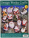 Tobin DW5351 Lots of Santa's Ornaments Felt Applique Kit, 3-Inch by 4-Inch, Set of 13