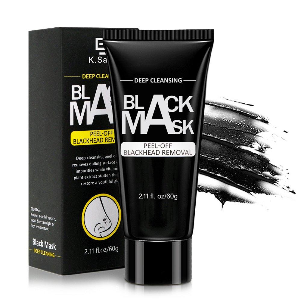 MICROBUY Blackhead Maske, Peel Off Maske Schwarze Maske, Tiefenreinigung Mitesser Maske, Bambuskohle Black Maske für Nase und Gesicht Anti Akne Öl-Kontrolle Purifying