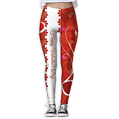 Nvoweu Happy Valentine S Day Printing Compression Leggings Pants