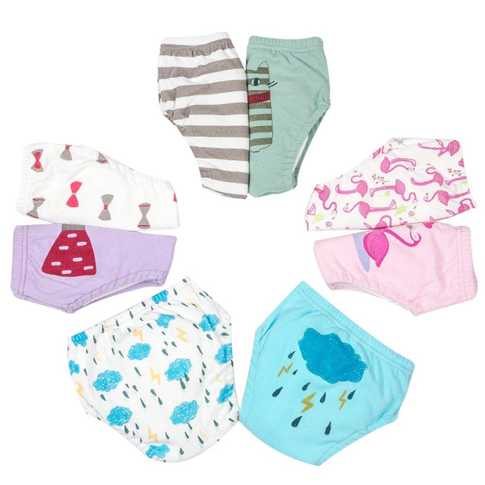 Happy childhood Baby Boys 1-3 Years Girls 6 Layer Toilet Training Pants Elastic Potty Underwear Shorts Pack 2 HC-UB-33