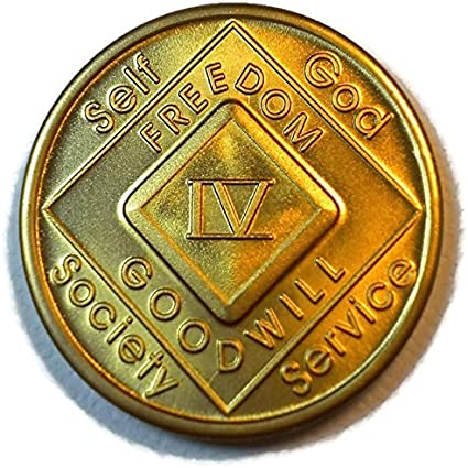 Narcotics Anonymous 17 Year Clean Bronze Medallion Recovery Coin Chip Token