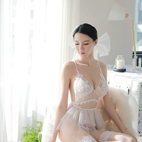 be40a537fb4 Lingerie for Women Sexy Virgin First Night Lingerie Bride Veil Care Cloth Wedding  Night White Lace