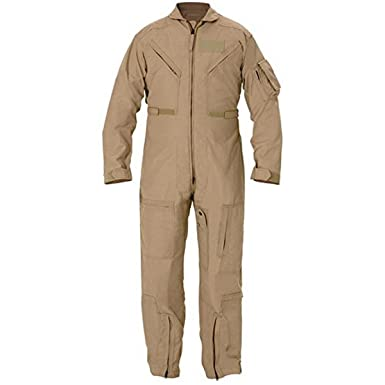 Genuine Issue GI CWU 27P Flyers Nomex Coveralls FR Flight Suit Tan (36R) ea1d99148d5