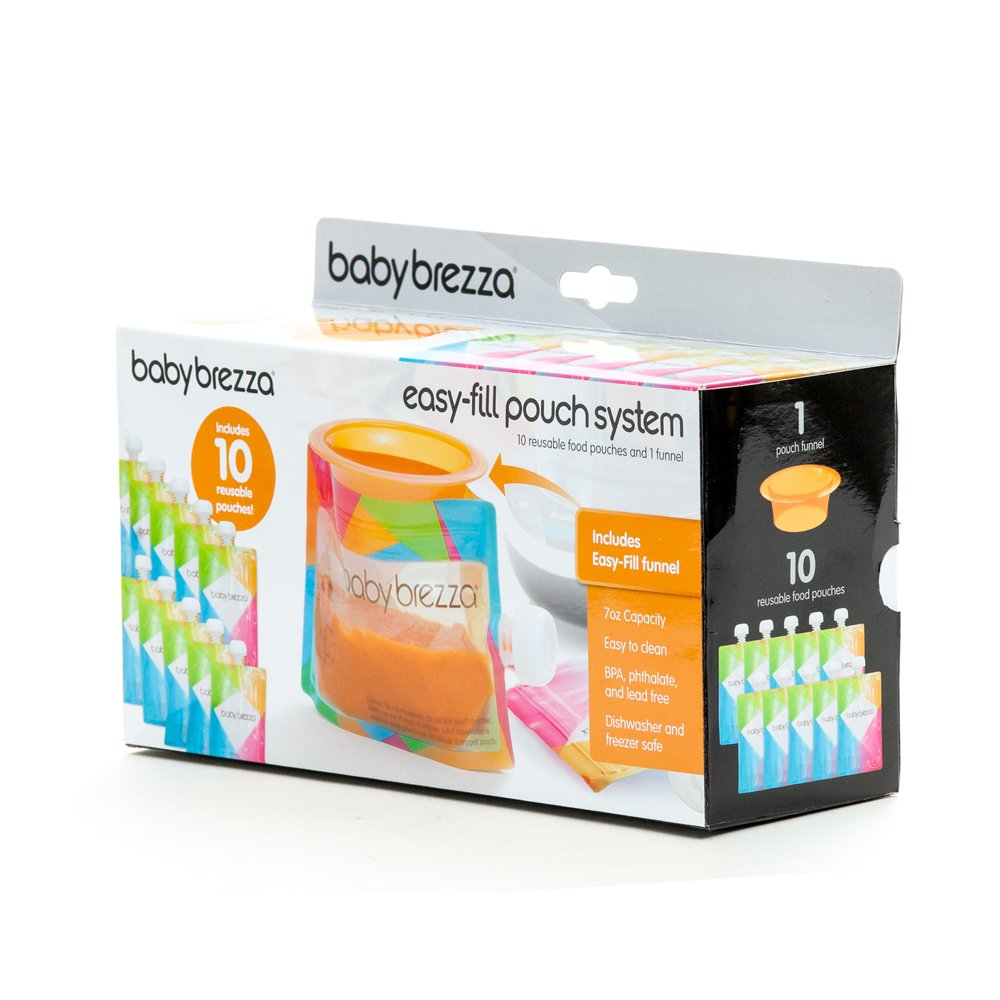 Baby Brezza Reusable Baby Food Storage Pouch Make Organic Food Puree For Your Ne