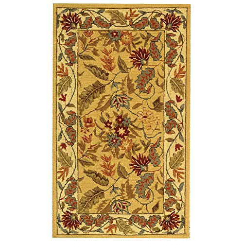 (Safavieh Chelsea Collection HK141A Hand-Hooked Ivory Premium Wool Area Rug (2'9