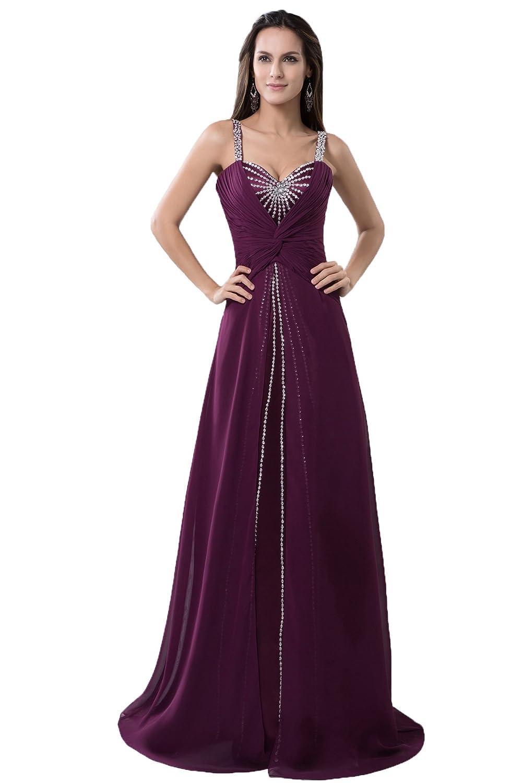 Snowskite Women's Sweetheart Beaded Long Chiffon Wedding Formal Evening Dress JKMFB048-1
