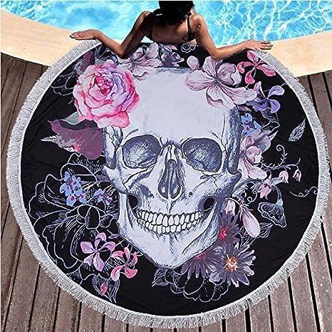 Amazon.com: Star-Five-Store - 150cm Sugar Skull Round Beach ...