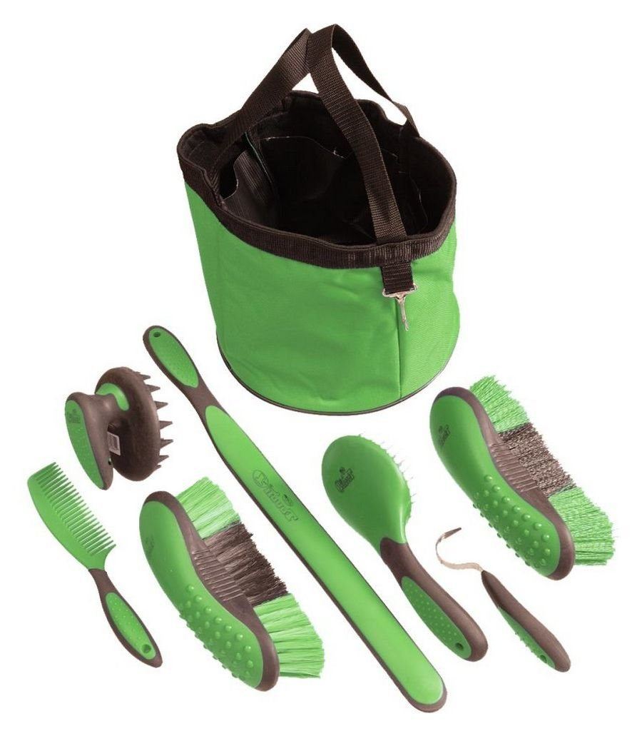 Tough 1 Great Grip Grooming Package (8-Piece), Neon Green
