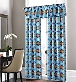 Cheap Southwest Native American Design 5 Piece Curtain Set Navajo Multicolor Turquoise 5 Piece Curtain Set