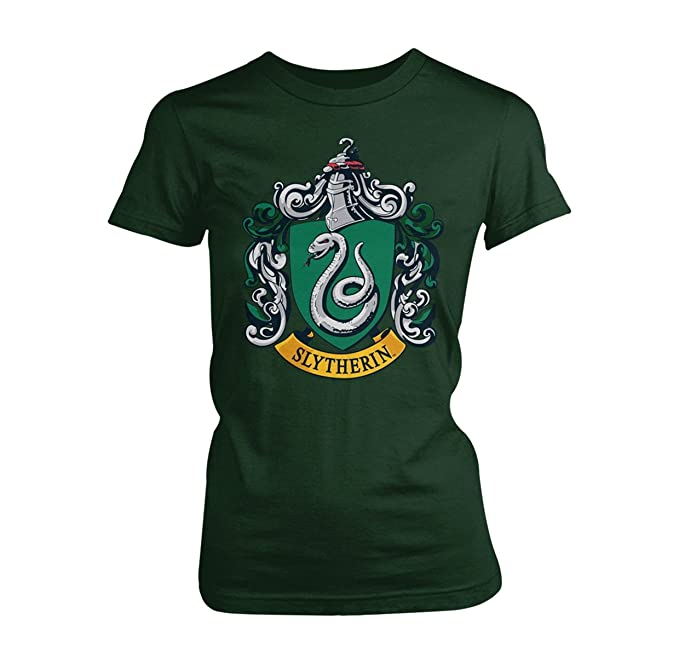 b4fc624d6 Harry Potter Womens Graphic Printed Assorted T- Shirt Slytherin - Green  -Size -Small