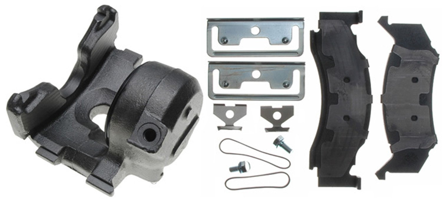 Loaded ACDelco 18R726 Professional Front Driver Side Disc Brake Caliper Assembly with Pads Remanufactured