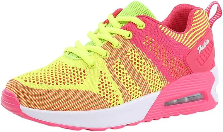 Mujer Deportivo Zapatos Trabajo Cómodos Malla Informal Calzado,Ata ...