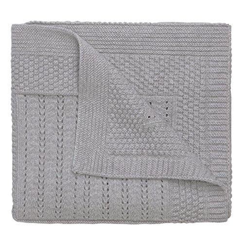 Elegant-Baby-100-Cotton-Seed-Knit-Blanket-Gray-30-X-40