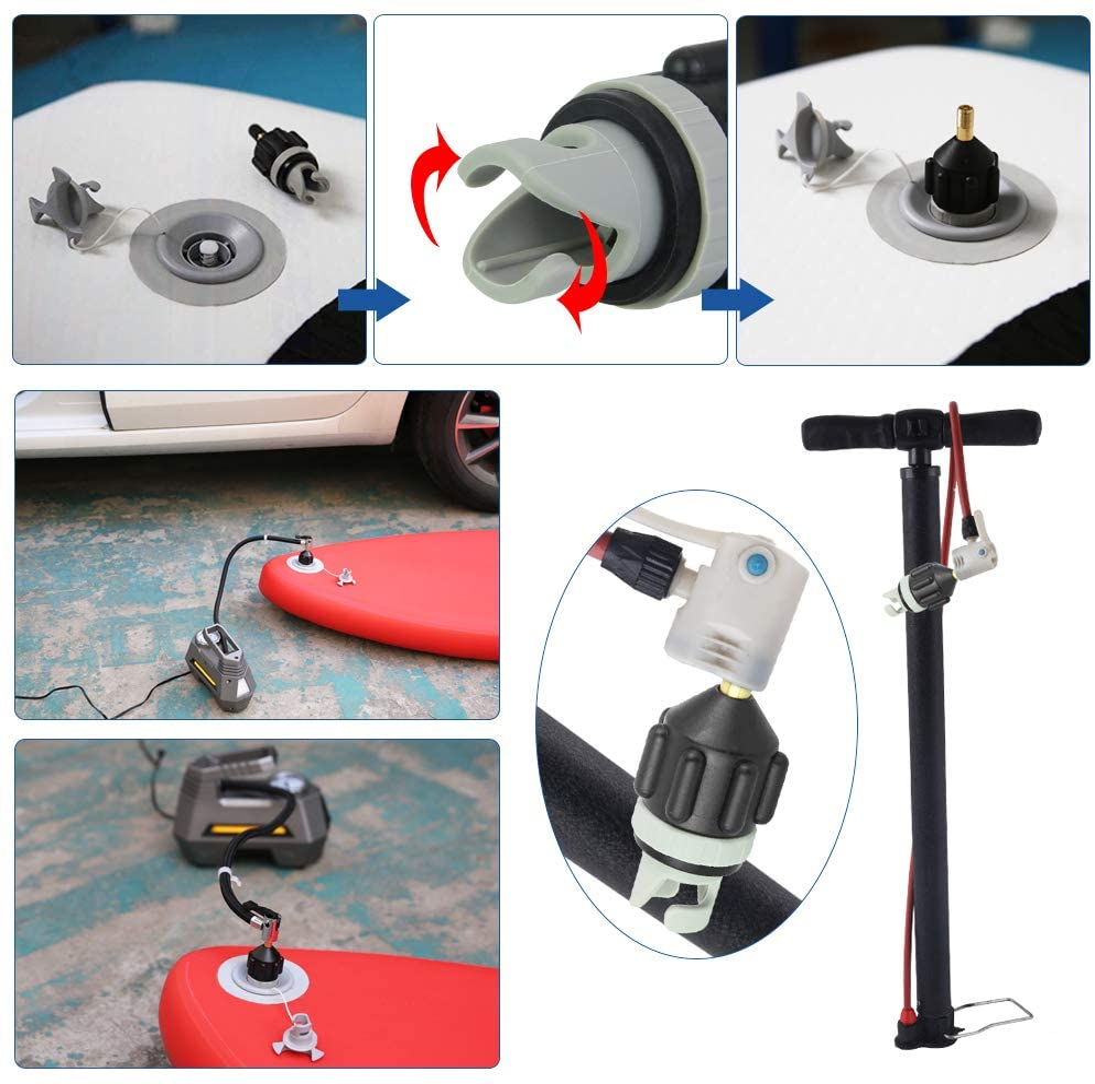 Inflatable Boat SUP Pump Adapter Kayak Air Valve Adaptor Pumping Head Connector
