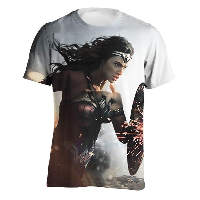 Wonder Woman Camiseta Modelo Landing Pose para Hombre Wt8y2Y8P