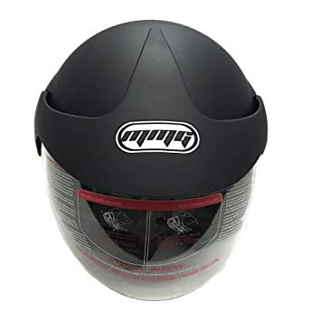Amazon.com: MMG Motorcycle Open Face Helmet DOT Street Legal - Flip Up Clear Visor - Matte Black 203 (XXL): Automotive