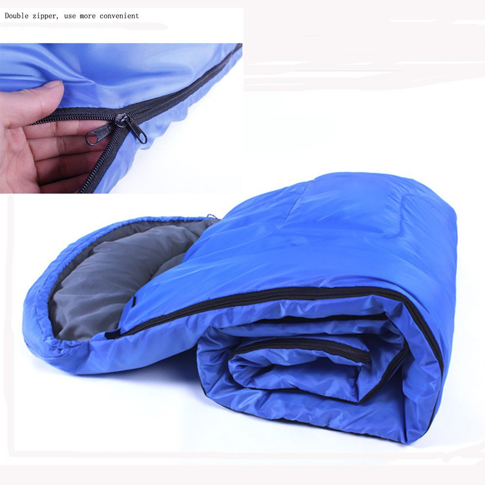 Waterproof Blue FOVigour Sleeping Bag Envelope Lightweight Portable Comfort With Compression Sack outdoor camping adult Sleeping bag waterproof keep warm sleeping bag for Camping Travel