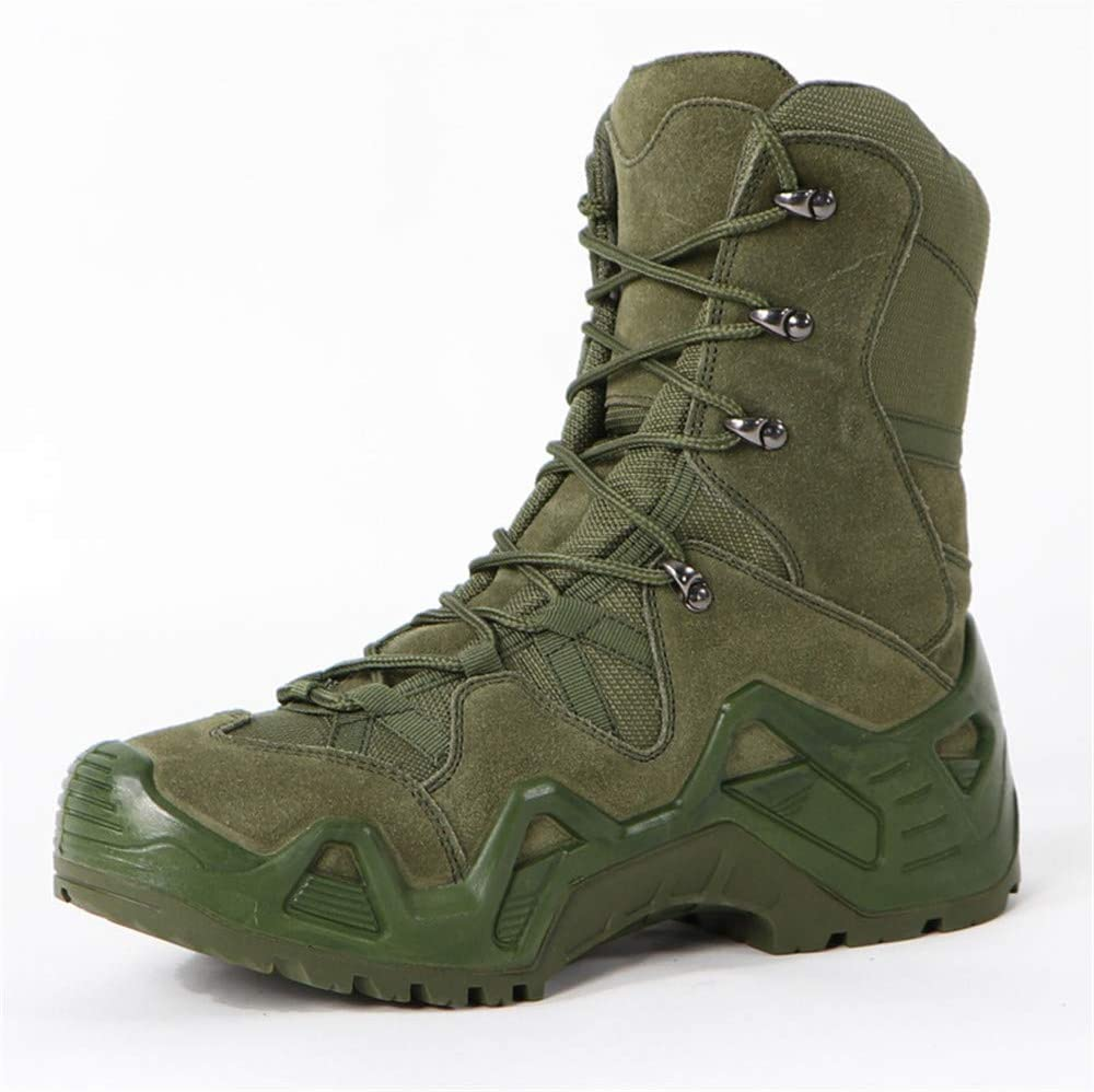 JHGK Bottes Hommes Militaire Marche,39 Imperm/éable Haut-Top Chaussures De Randonn/ée R/ésistant /À lusure Anti Slip Chaussures en Plein Air pour La Randonn/ée Travailler
