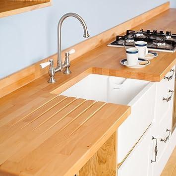 Worktop Premium Solid Beech Breakfast Bars Amazon Co Uk Kitchen Home