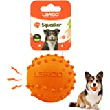 LaRoo Dog Squeaky Ball Sound Toys,Durable Rubber Interactive Fetch Chew Toys,Outdoor Dog Football for Large and Small Dogs(Vo