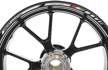 Impressiata Ducati Monster 1200 Motorrad Felgenrandaufkleber Specialgp Weiß Komplettset Aufkleber Sticker Auto