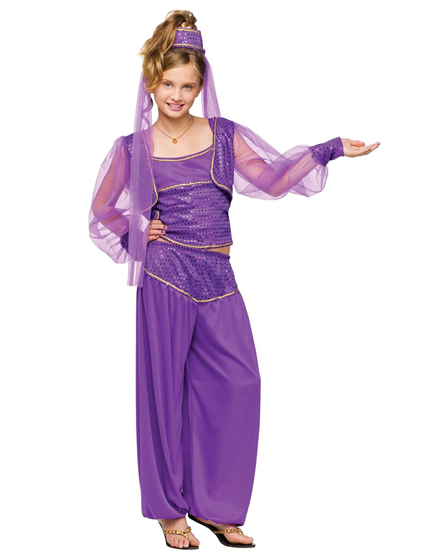 Fun World Big Girl's Dreamy Genie Costume Childrens Costume, Multi, Extra-Small