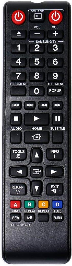 allimity Control Remoto AK59-00149A reemplazado para BD-E5200 BD-E5300 BD-E5500 BD-F5100 BD-F5500 BD-H5500 BD-H5900 BD-J4500 BD-J5500 BD-J5700 BD-J5900 BD-JM57C TM1241