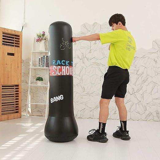 Saco de Boxeo para Adultos niños, Punching Ball Hinchable, Saco de ...