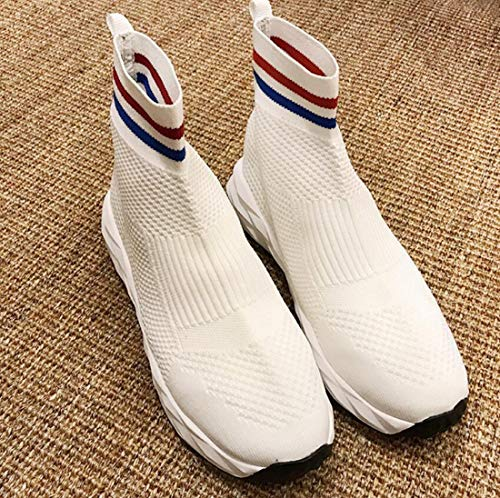 Breathable Top Shoes Travel Socks Casual DANDANJIE High Sports Shoes Shoes White Student Womens PvwOYWI