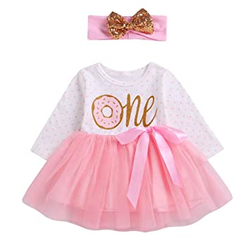 a07d05388758 AutumnFall Infant Baby Girls Letter Ribbons Bow Tutu Dress Hairband Clothes  Outfits 3-24M (