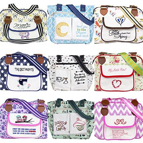 Kupu Nappy bolso cambiador, elegante laminado resistente al agua multifunción hombro bebé bolsa de pañales portátil bolso de compras con cambiador, cochecito correas, correa de llaves y con bolsillos  Now we have Everything