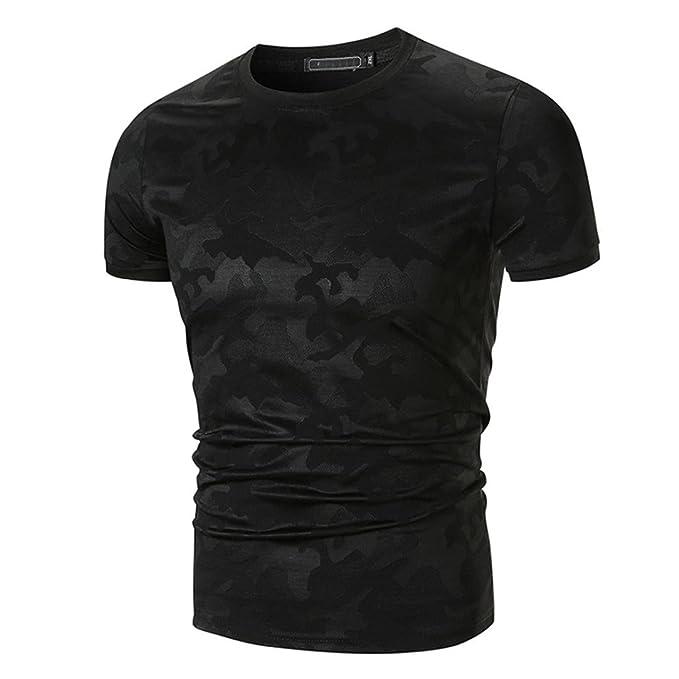 Camiseta para Hombre, 💝Xinantime Blusa de Camuflaje Casual para Hombre Tops Camisa Imprimir O Neck Pullover Camiseta de Manga Corta: Amazon.es: Ropa y ...