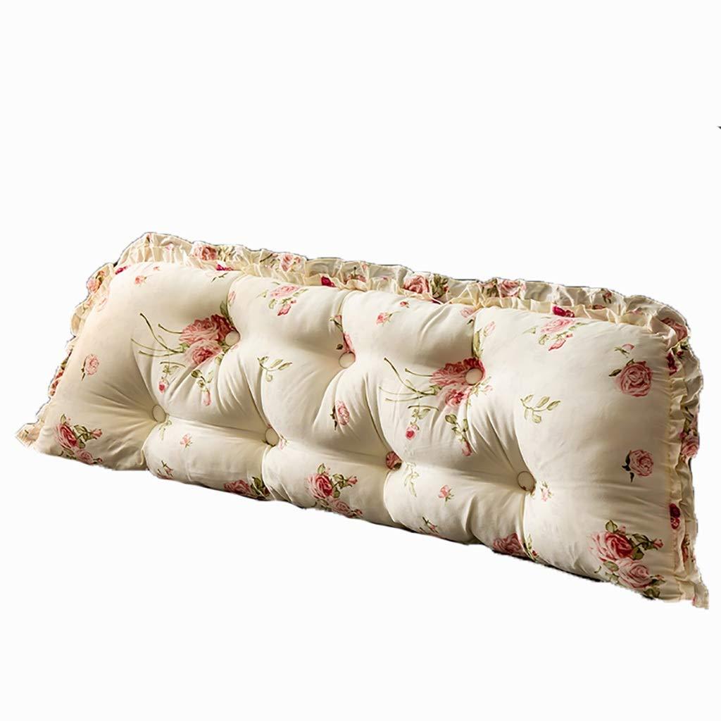 ベッド枕 マルチパターン選択コットンベッドヘッド大バックダブルロングピロークッションヘッドボードソフトバッグウエストベッドバッククッション三次元綿充填サイズ1.2メートル - 2.2メートルオプション 写真ベッド枕首まくら (色 : V, サイズ さいず : 2m) B07RWLK1DX
