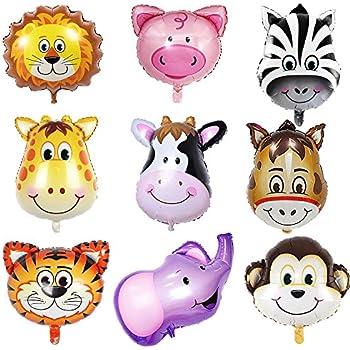 amazon com sotogo 9 pieces jungle safari animals balloons 22 inch