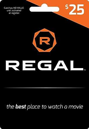 Amazon.com: Tarjeta de regalo de Regal Entertainment ...