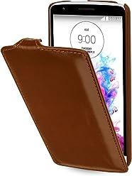StilGut® UltraSlim Case, custodia in pelle per LG G3 Stylus, cognac