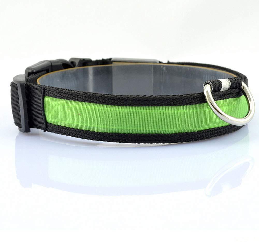 Collar reflectante con luz LED para mascota, de Vi.yo; collar de seguridad de nailon luminoso, te ayudará a saber dónde está tu mascota en la oscuridad te ayudará a saber dónde está tu mascota en la oscuridad