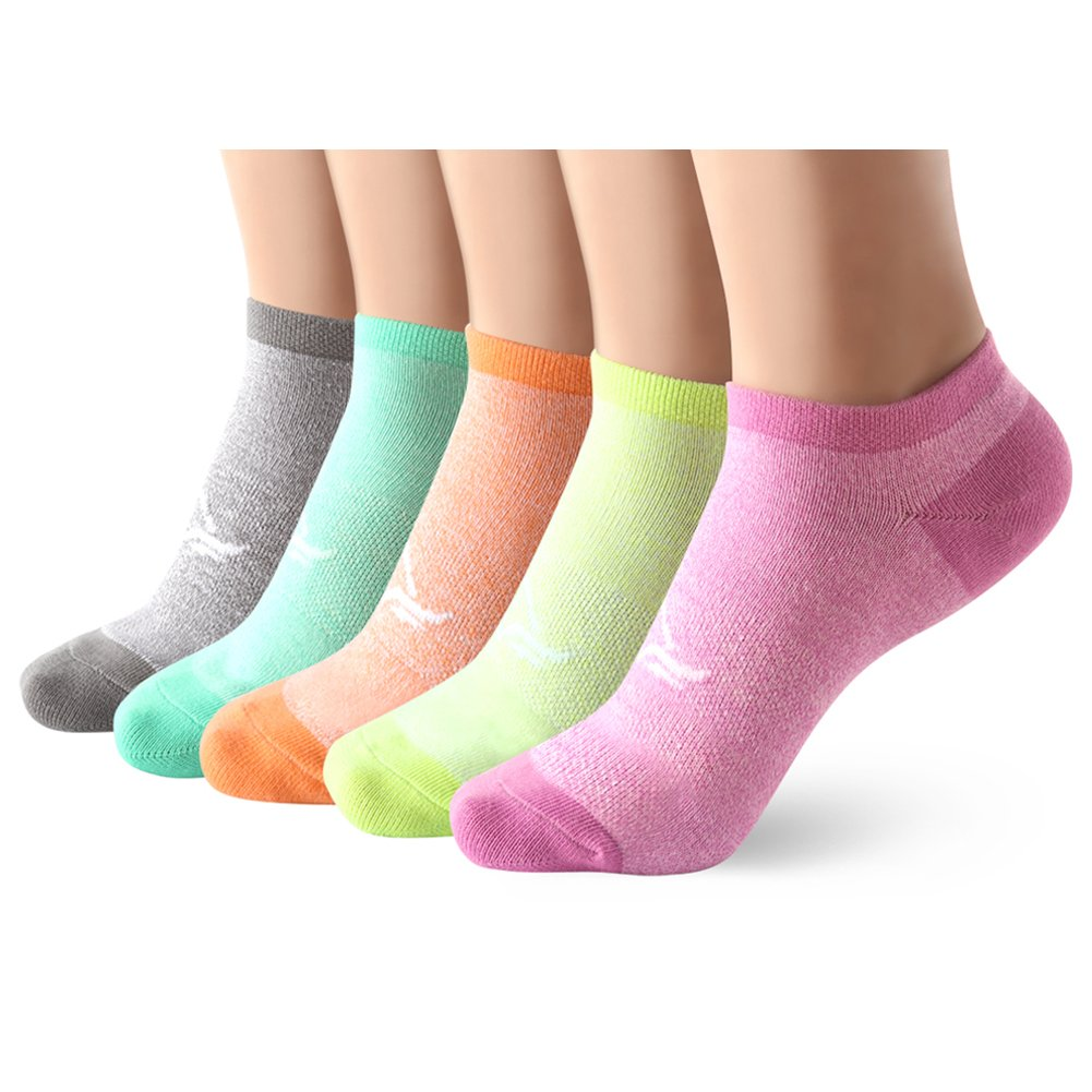 Casual Low Cut Trainer Socks for Women - 5 Pairs Breathable Short Ankle Sneaker Socks for Running Walking Fitness Outdoor Sports