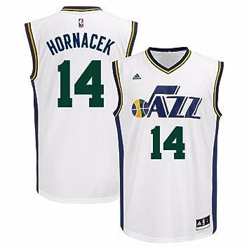 Amazon.com   adidas Jeff Hornacek Utah Jazz NBA Men s White Official Home  Replica Jersey   Sports   Outdoors ef311c423
