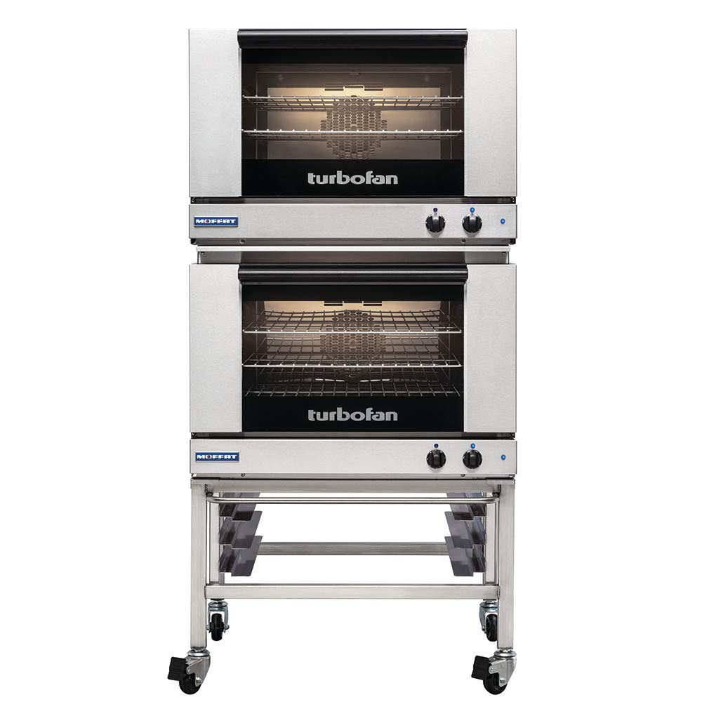 Turbofan Dual Electric 3 Full Pan Convection Oven w/Casters