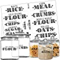 Talented Kitchen Farmhouse Pantry Labels 36 Main Ingredients Food Pantry Label Sticker Black Water Resistant Food Jar Labels Jar Decals F Pantry Organization Storage Set Of 36 Main Pantry