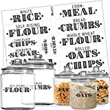 Pantry - Etiquetas para tarros, recipientes, recipientes para almacenamiento y organización, Black Letters on Clear Background, Farmhouse Pantry Main Ingredients, 36 Labels, 1