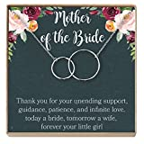 Mother of The Bride Gift Necklace: Wedding Gift, Bridal Party, Rehearsal Dinner, Woman of My Dreams, Parent of Bride (Silver-Plated-Brass, NA)
