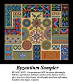 Byzantium Sampler, Artful Designs and Fractals Cross Stitch Pattern (Pattern Only, You Provide the Floss and Fabric)