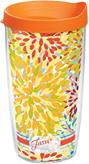 Tervis 1250501 Bohemian Mandala Tumbler with Wrap and Turquoise Lid 16oz Clear