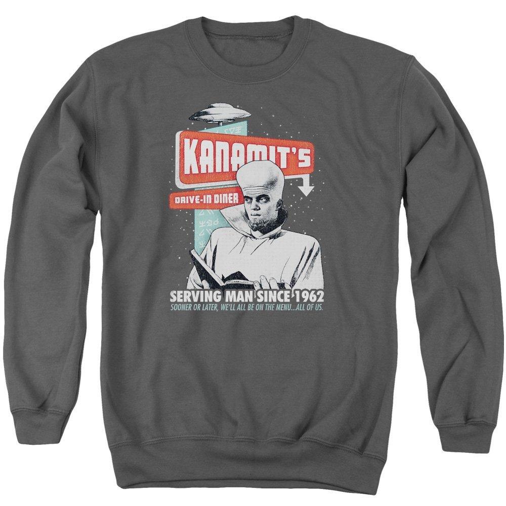 Twilight Zone Kanamits Diner Adult Crewneck Sweatshirt