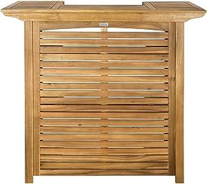 Safavieh Outdoor Collection Monterey Teak Bar Table - Teak Brown