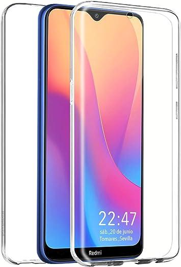 PLANETMOVIL Funda 360 Compatible con [[ Xiaomi Redmi 8 y Redmi 8A ]] Carcasa Doble Cara 360 de Silicona Delantera + Trasera TPU rigido Doble 100% Transparente Enteriza y Completa: Amazon.es: Electrónica